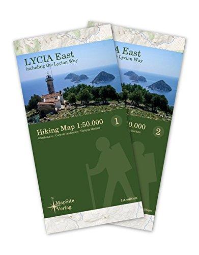 Lycia East Hiking Map 1:50.000: Wanderkarte inklusive dem Lykischen Weg