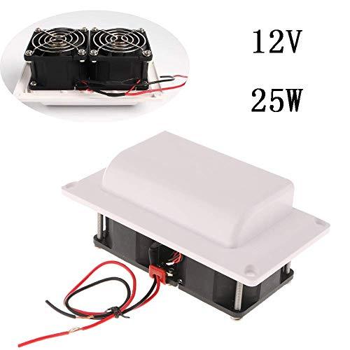 Ventilador de coche para autocaravana, 12 V, ventilador de ventilación lateral para RV, remolque, barco, yate, color blanco