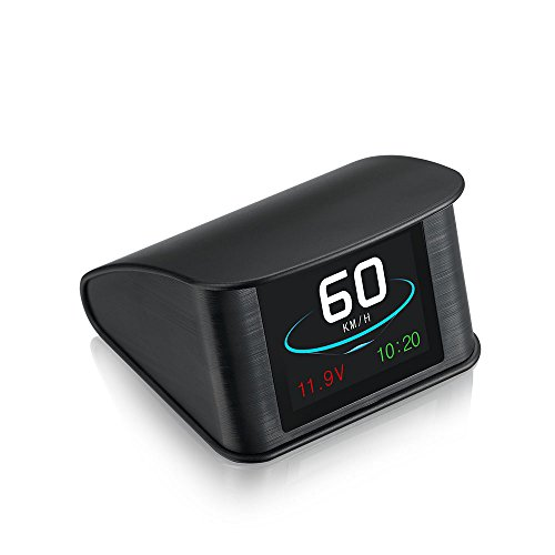 クジハン ヘッドアップディスプレイ HUD GPS スピードメーター ディスプレイ表示 速度/水温/燃費/回転/走行距離の測定