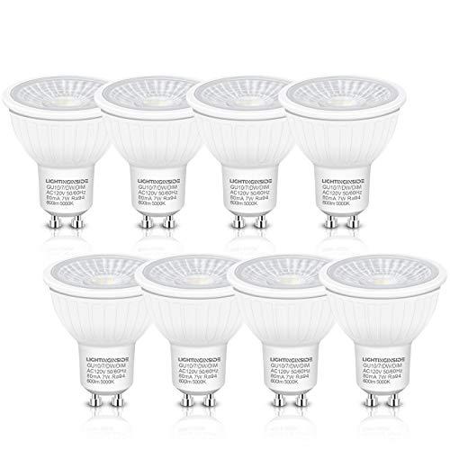 Dimmable GU10 LED Bulbs - Flicker Free 75W Halogen...
