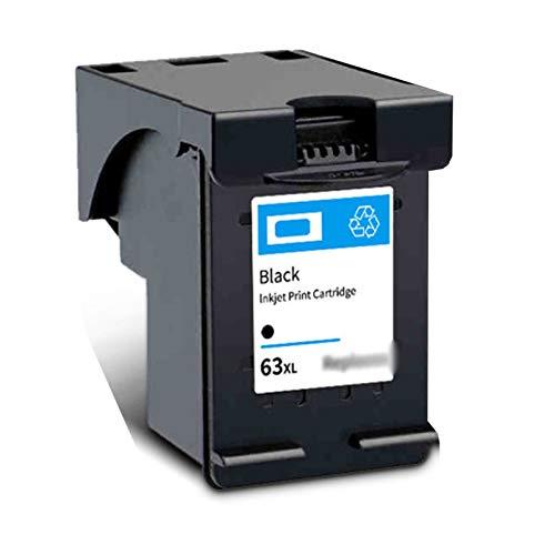 Cartucho de tinta 63XL, apto para impresora HP 2130 3630 3830 Officejet, 4520 4650 con chip, puede añadir tinta, 600 páginas, color negro