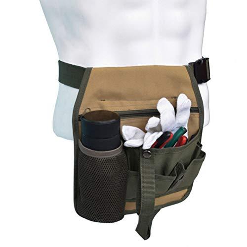 Gartenwerkzeug-Gürtel, Gartenschürze, Werkzeugtasche 600D Oxford-Stoff, Gartenwerkzeug-Gürtel mit Wasserflaschenhalter für Zuhause und Garten
