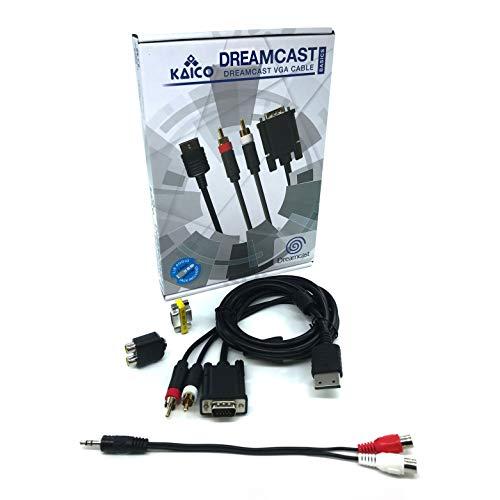 SEGA Dreamcast DC VGA Cable de alta definición Adaptador de sonido RCA...
