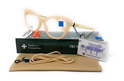 Gafas de presbicia Mujer Diseño en Colores: Demi, Grey, Beige. VENICE Hepburn - Dioptrías: 1 a 3,5 (Beige, 3,00)