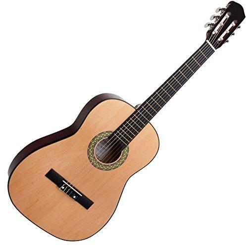 Classic Cantabile AS-851 7/8 concertgitaar natuur (akoestische gitaar, geschikt voor kinderen in de leeftijd van 11-13 jaar, markering, nylon snaren)