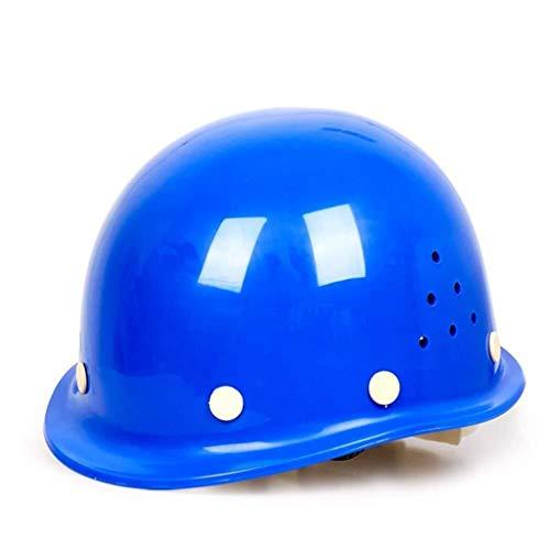 ZBM-ZBM Abs Casco Sitio De Construcción Verano Ventilación Líder Supervisión Casco De Fibra De Vidrio Antiácaros Casco de Seguridad Industrial (Color : Blue)