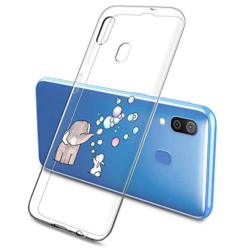 Suhctup Compatibile per Samsung Galaxy J1Mini / J105 Cover con Disegni, Ultra Leggere Sottile Silicone Morbido Trasparente Custodia, Molle TPU Antishock Anti-Scratch Protettiva Case