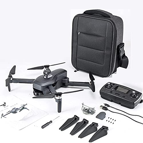 Drone con fotocamera EIS 4K per adulti, quadricottero GPS professionale per principianti con tempo di volo di 30/60/90 minuti, motore brushless, trasmissione a 2,4 GHz, ritorno automatico a casa, segu