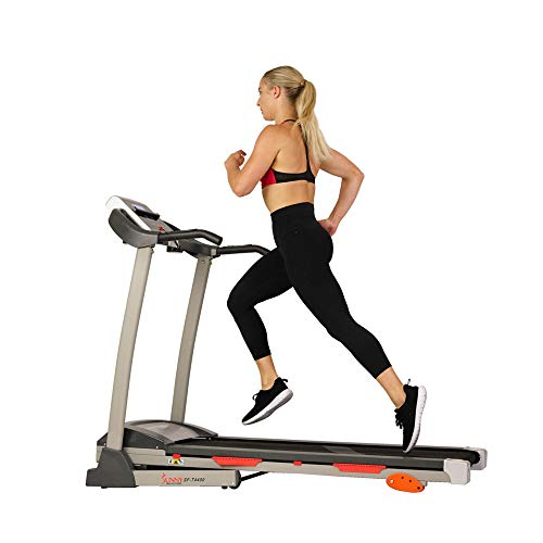 Big Save! Sunny Health & Fitness Treadmill, Gray, 62 2 L x 26 8 W x 47 3 H (SF-T4400)