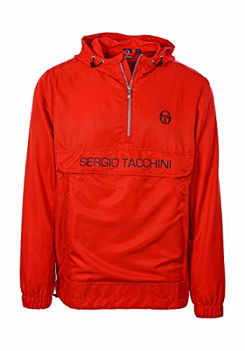 Sergio Tacchini Herren Cinto Anorak Jacke, Vintage Red/NAV, 3XL