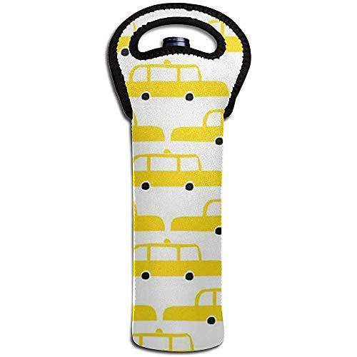 Taxi Wine Tote Carrier Bag Geldbörse für Champagner, Wein, Wasserflaschen 15 x 38 cm