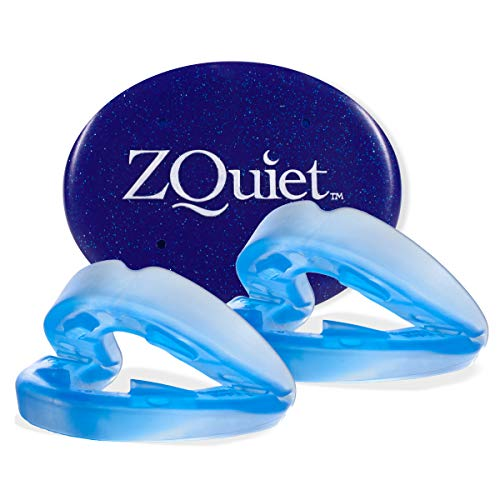 ZQUIET Anti-Snoring Mouthpiece Solution, 2-Size Comfort System Starter Kit - Made in USA & FDA Cleared, Natural Sleep Aid Device, Dentist Designed Oral Appliance