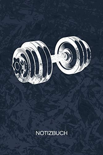 NOTIZBUCH: A5 Kariert - Hobbysportler Heft - Fitness Notizheft 120 Seiten KARO - Fitness Motivation Notizblock Hantel Training Motiv - Fitnesstrainer Geschenk