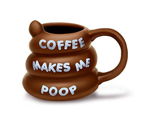 BigMouth INC Kaffee Makes Me Poop Tasse, braun