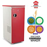 Natraj Viva Domestic Flour Mill Aata chakki Ghar Ghanti Fully Automatic Without Vacuum Red Matte Finish