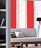 MADECOSTORE Panel japonés Tamiant Lamelles Lisos – Rojo – 45 x 260 cm