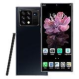 Smartphone, note25 + 4G, tarjeta SIM de teléfono Android desbloqueada gratis, pantalla completa de gota de rocío de 6.8 pulgadas, batería grande de 5000mAh, 8GB + 512GB, reconocimiento facial, cámar
