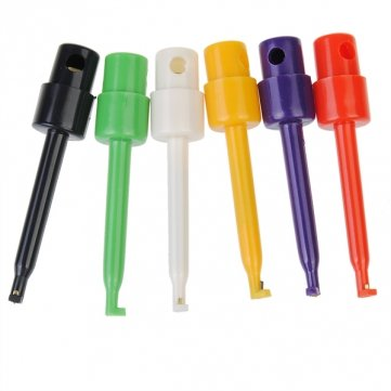 Man Friday 6 piezas multímetro Lead Wire Kit SMD IC ganchos de sondas de cable Clip