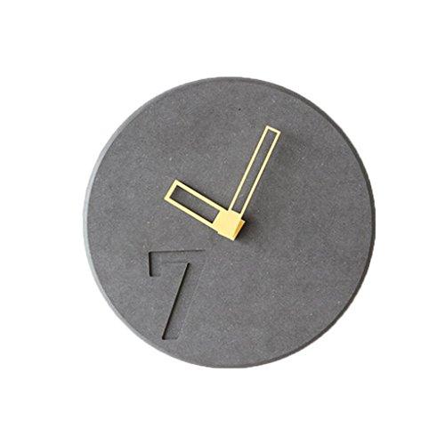 LINGZHIGAN Creative Decorative Wall Clock Cartoon Colorful Clock Retro Chambre Salle d'étude Salon Kid 23cm ( Couleur : Le jaune )
