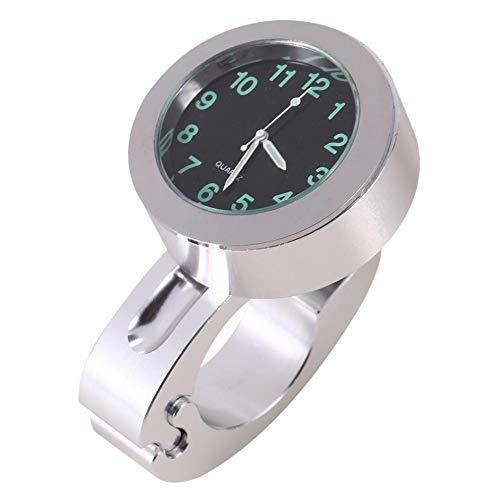 Outbit Lenkeruhr - 1pc Silber Motorrad Wasserdichte Lenker Glow Mount Clock Watch Universal