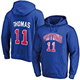 Baloncesto Sudadera con Capucha de Isiah Thomas # 11 Detroit Pistons Jersey y de los Hombres Mujeres Camiseta Camiseta de Baloncesto Suelta (Color : D, Size : L)