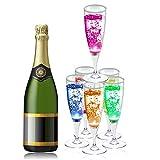 Copa de Champán de Vinos de LED XinXu Champagne Flutes Coloridas Copas de Champán/Vasos de Vino 6 colores con Líquido Activado para el Banquete Boda Bar