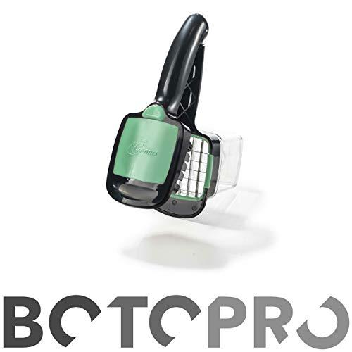 BOTOPRO - NicerDicerQuick Verde, el Cortador y Picador 5 en 1 de Genius. Utensilio para Cortar verdura rápido y Sencillo - Anunciado en TV