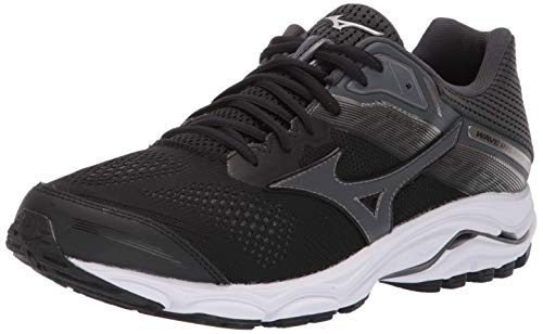 Mizuno Men's Wave Inspire 15 Running Shoe, Black-Dark Shadow 12.5 D US