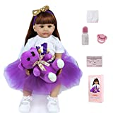 ZIYIUI 24 Pulgadas 60 cm muñecas Toddler Reales recién Nacido Reborn Bebe Reborn niña Ojos Abiertos