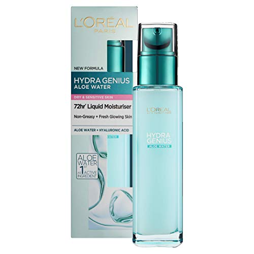 L'Oreal Paris Hydra Genius Hyaluronic Acid + Aloe Liquid Hydrating...