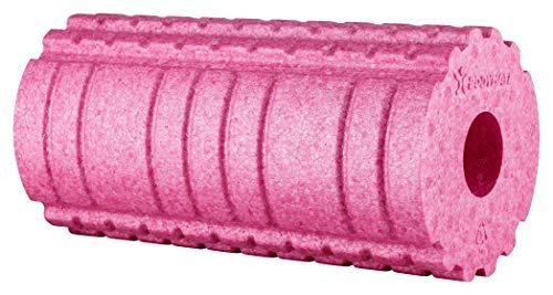 BODYMATE Faszienrolle Active Mittel-Hart mit GRATIS E-Book - Fuchsia-Pink 30x15cm mit aktivierender Oberflächenstruktur