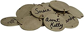 CWI Gifts Replacement Wooden Birthday Tags with Jump Rings, 1.25