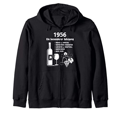 Geburtstag Geschenk Wein Vintage - Besonderer Jahrgang 1956 Kapuzenjacke