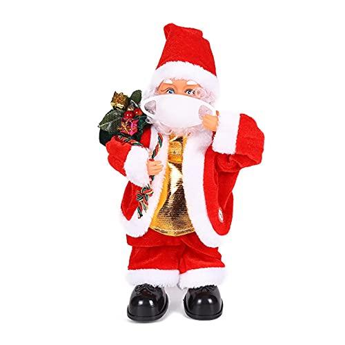 Giocattolo di Babbo Natale, Danza Canto Bambola di Babbo Natale Rotazione verticale Figura di Babbo Natale con musica Novità Ornamenti natalizi Decorazione per tavolo scrivania