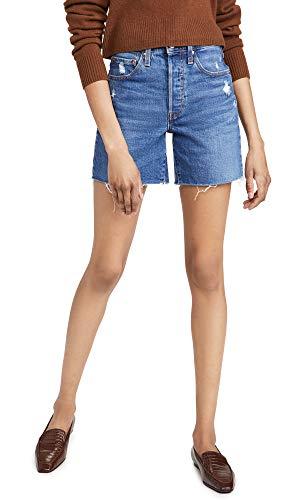 Levi's Women's Premium 501 Mid Thigh Short, Charleston Picks, 27