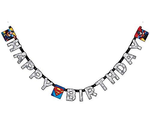 Superman 1 Guirlande d'anniversaire 3.2m Happy Birthday