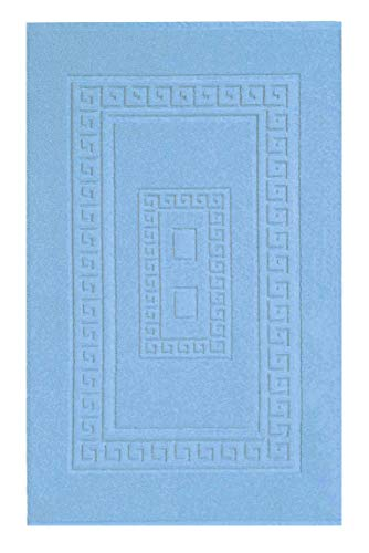 CASA TESSILE Torino Tappeto Bagno in Spugna cm 60X120 - Azzurro