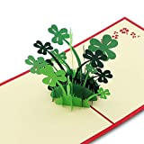 Image of 3D Pop Up Cards, Four-Leaf Clover Cards, Love, Birthday, Congratulations, Good Luck, Anniversary, Get Well, Valentine