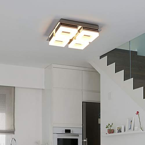 Lampenwelt LED Deckenlampe 'Marija' (spritzwassergeschützt) (Modern) in Weiß u.a. für Badezimmer (4 flammig, A+, inkl. Leuchtmittel) - Bad Deckenleuchte, Lampe, Badezimmerleuchte