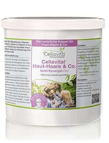 Cellavital Haut-Haare & Co. | Nahrungsergänzung | Eierschalenmembran-Pulver (EggNovo OVOMET®) Quinoa Pulver | 3-Monatsvorrat - 180 Kapseln