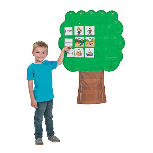 Fun Express Learning Tree Pocket Chart - 1 Piece - Educational and Learning Activities for Kids