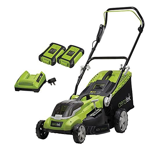 Aerotek 40V X2 Series Cordless Lawnmower, Lithium-Ion 2Ah x2 Batteries...