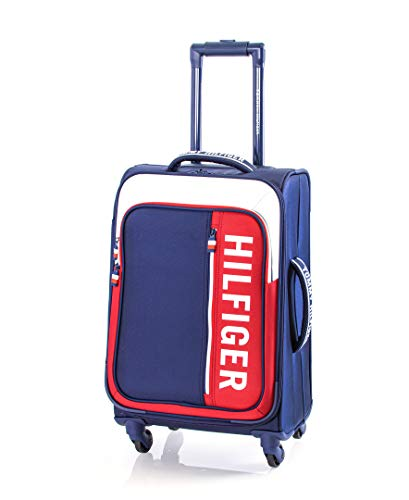Tommy Hilfiger Winston Softside Expandable Spinner Luggage, Navy, 20 Inch
