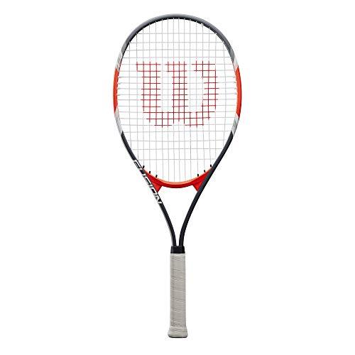 Wilson Fusion XL, WRT30270U3 Racchetta da Tennis, Tennisti Amatoriali e Principianti, Nero/Rosso, Manico 3