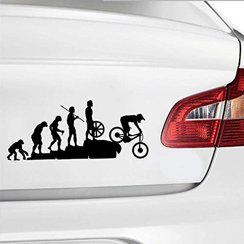 23 * 9.5CM Human Evolution Bicycle Car Stickers Personalized Vinyl Reflective Car Body Decals Mountain Bike Car Styling