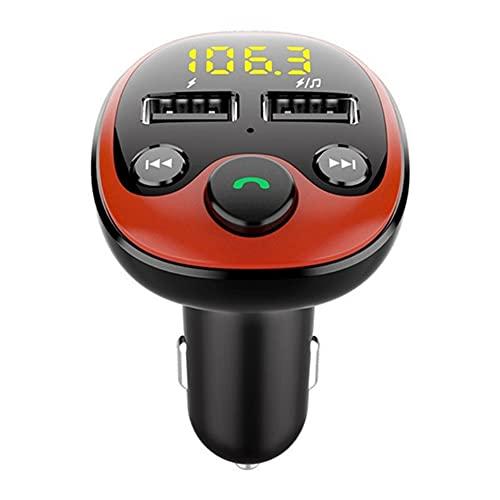 Kit De Coche Inalámbrico Bluetooth 5.0 Cargador Rápido De Coche USB Dual Transmisor De FM Reproductor De Música MP3 Adaptador De Radio Teléfono Manos Libres