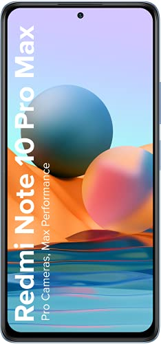 Redmi Note 10 Pro Max (Glacial Blue, 6GB RAM, 128GB Storage) -108MP Quad Camera|120Hz Super Amoled Display | NCEMI Upto 6 Months