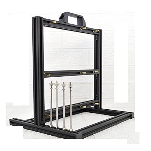 WSNBB Tarjeta Gráfica Vertical, Caja De Computadora Personalizada, Mini Rack Fresco De Bricolaje De Aluminio Abierto, Caja De Escritorio ATX Refrigerada por Agua