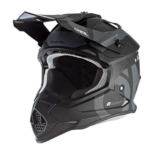 O'Neal 2Series Adult Helmet, Slick (Black/Gray, LG)