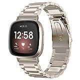 V-MORO Compatible con Fitbit Versa 3/Fitbit Sense Correa para hombres y mujeres, correa de repuesto...